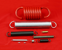 "Extension springs with wire ranging from 0.006"" to 0.750"" diameter."